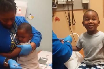 """Медицинската сестра """"магично"""" го смири детето и му зеде крв."""
