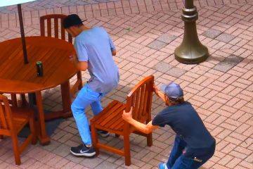 Каква е реакцијата кога некој ќе ви ја тргне столицата (ВИДЕО)