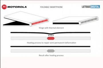 Моторола патентира иновација за склопен дисплеј.