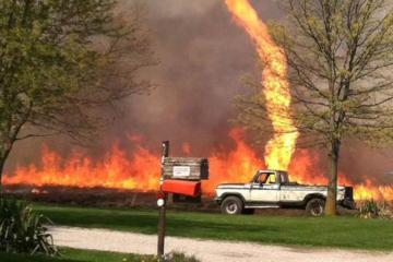Огнено торнадо е феномен кој сеуште неможе да биде објаснат од страна на научниците