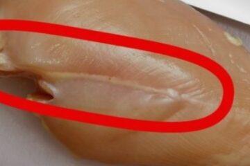 Зошто не треба да јадеме пилешко месо доколку има ваква бела линија ?!